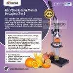Jual Alat Pemeras Jeruk Manual  3 in 1 (MJ1003) di Mataram