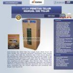 Jual Mesin Penetas Telur Manual 500 Telur (EM-500) di Mataram