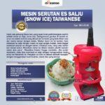 Jual Mesin Serutan Es Salju (Snow Ice) Taiwanese di Mataram