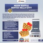 Jual Mesin Waffle Bentuk Hello Kitty (Kitty2) di Mataram