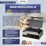 Mesin Waffle Kotak 10 (WF10) di Mataram