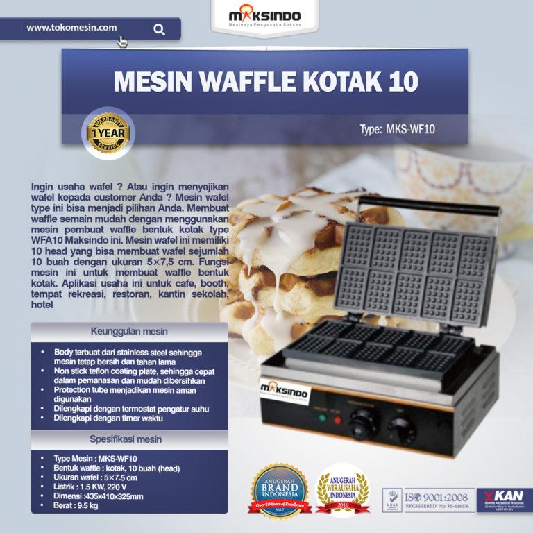 Jual Mesin Waffle Kotak 10 (WF10) di Mataram
