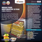 Jual Mesin Food Dehydrator 15 Rak (FDH15) di Mataram