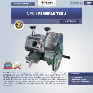 Jual Mesin Pemeras Tebu (Giling Tebu) di Mataram