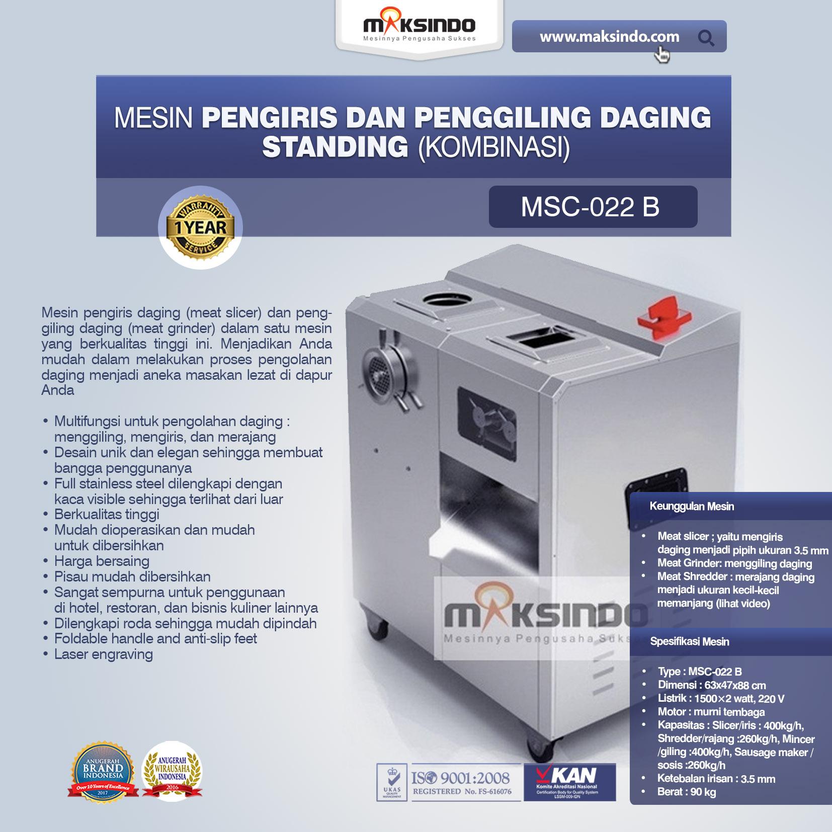 Jual Mesin Pengiris dan Penggiling Daging Standing (Kombinasi) di Mataram