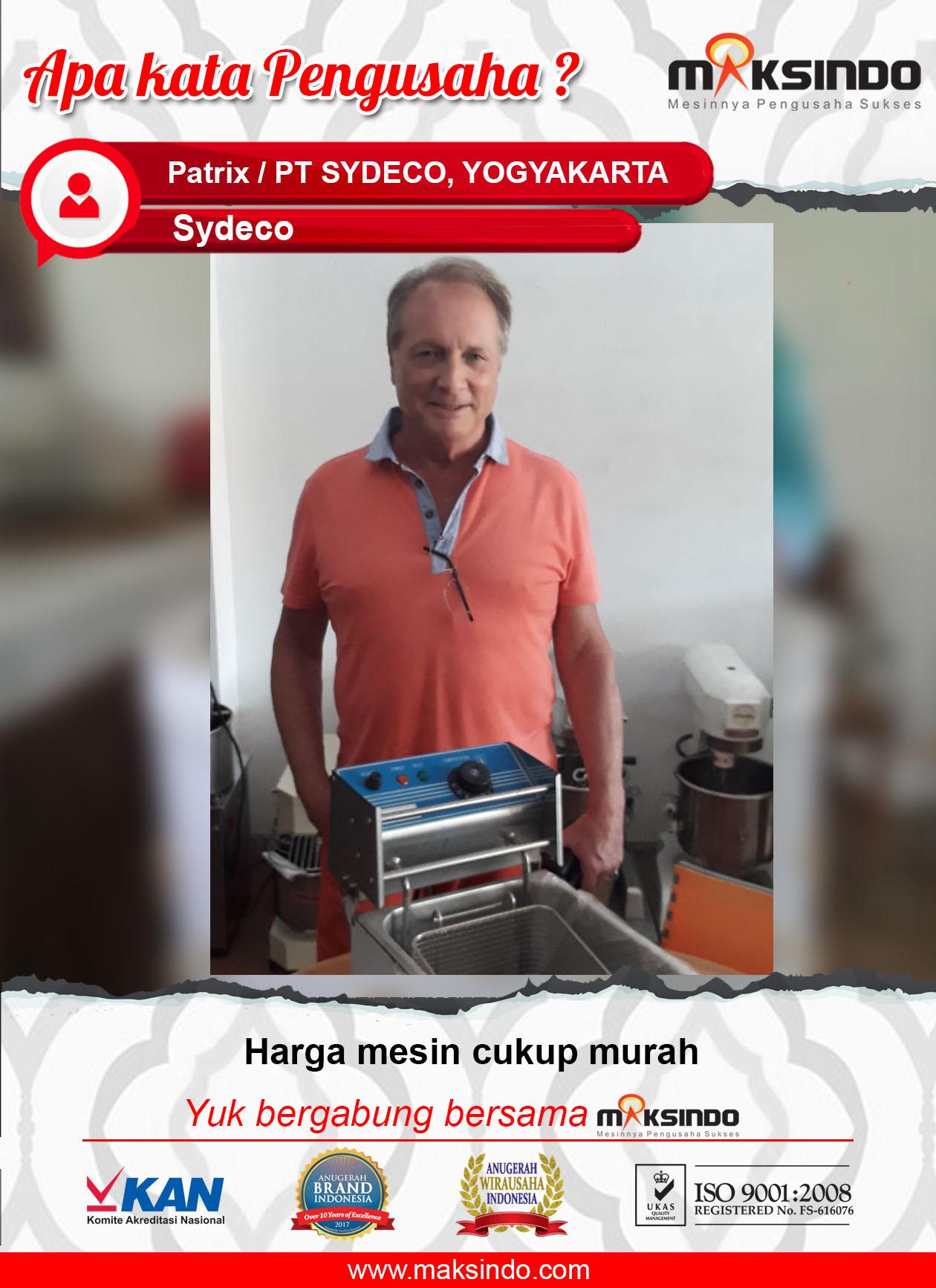 PT Sydeco : Mesin Deep Frying Maksindo Harga Cukup Murah