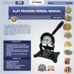 Jual Alat Pengiris Herbal Manual (MKS-HERB77) di Mataram