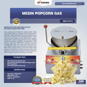 Jual Mesin Popcorn Gas (MKS-POP10) di Mataram