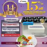 Mesin Pembuat Egg Roll (Listrik) di Mataram