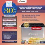 Mesin Egg Roll Sosis Telur Snack Maker 4in1 Listrik