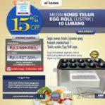 HOT Sale Mesin Pembuat Egg Roll (Listrik) di Mataram