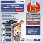 Jual Mesin Pembuat Egg Roll (Gas) 4 Lubang MKS-ERG444 di Mataram
