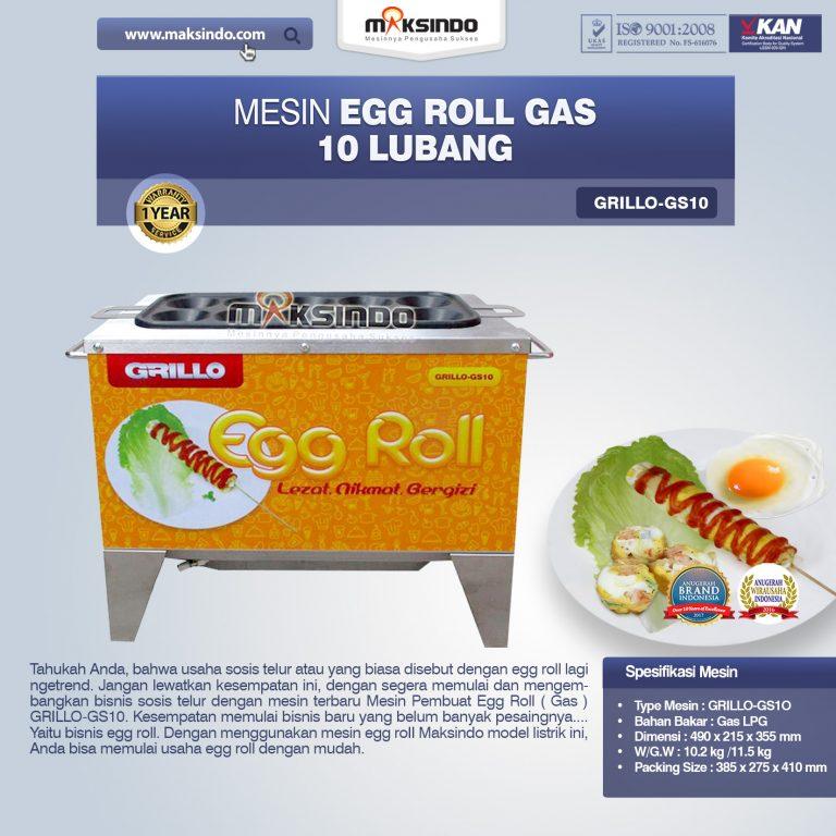 Jual Egg Roll Gas 10 Lubang GRILLO-GS10 di Mataram