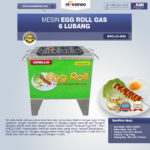 Jual Mesin Egg Roll Gas 6 Lubang GRILLO-GS6 di Mataram