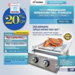 Jual Pemanggang Serbaguna Stainless Steel – Gas BBQ Grill 2 Tungku di Mataram