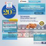 Jual Pemanggang Serbaguna Stainless Steel – Gas BBQ Grill 8 Tungku di Mataram