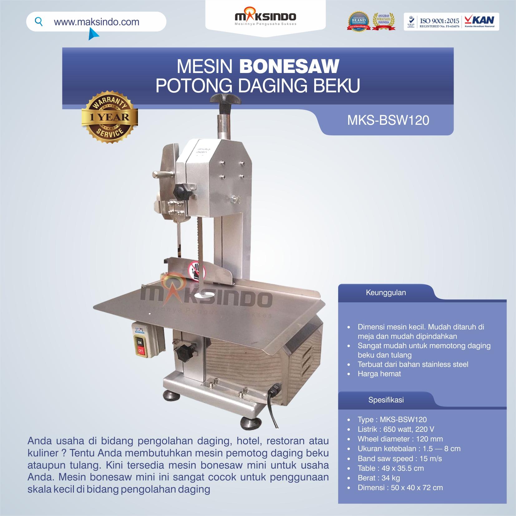Jual Bonesaw Pemotong Daging Beku (MKS-BSW120) di Mataram
