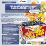 Jual Mesin Egg Roll Gas 2in1 Plus Fryer ERG007 Maksindo di Mataram