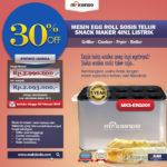 Mesin Egg Roll Sosis Telur Snack Maker 4in1 MKS-ERG005 Listrik
