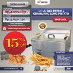 Jual Mesin Gas Fryer MKS-G20L + Keranjang di Mataram