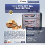 Jual Mesin Oven Roti Gas 3 Rak 9 Loyang (GO39) di Mataram