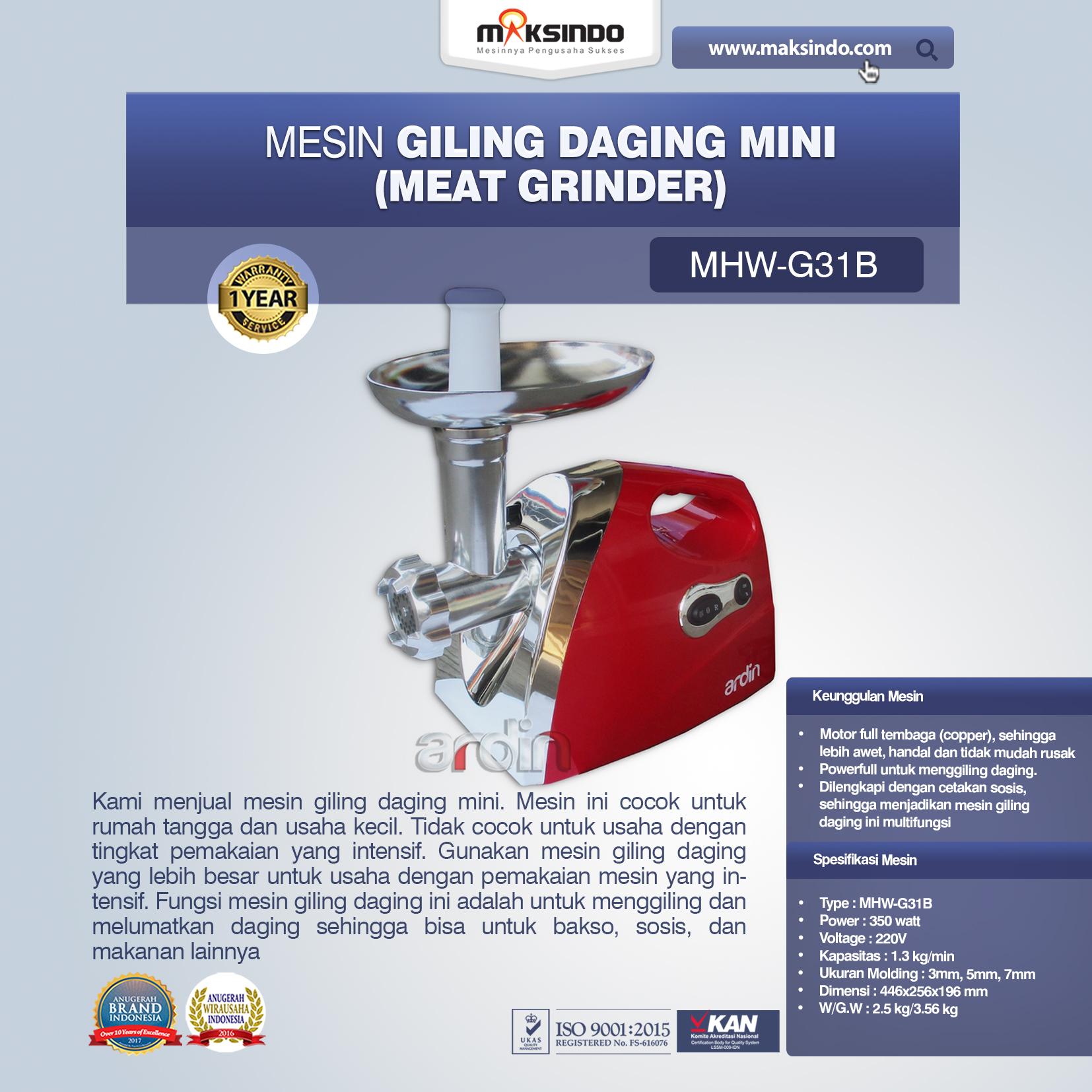 Jual Mesin Giling Daging Mini (Rumah Tangga) – Ardin di Mataram