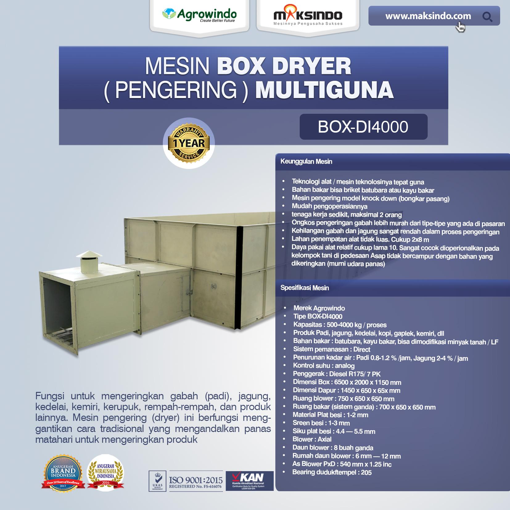 Jual Mesin Pengering Padi, Jagung, dan Produk Pertanian (BOX DRYER) di Mataram