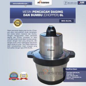 Jual Mesin Pencacah Daging dan Bumbu MKS-BLD6L di Mataram