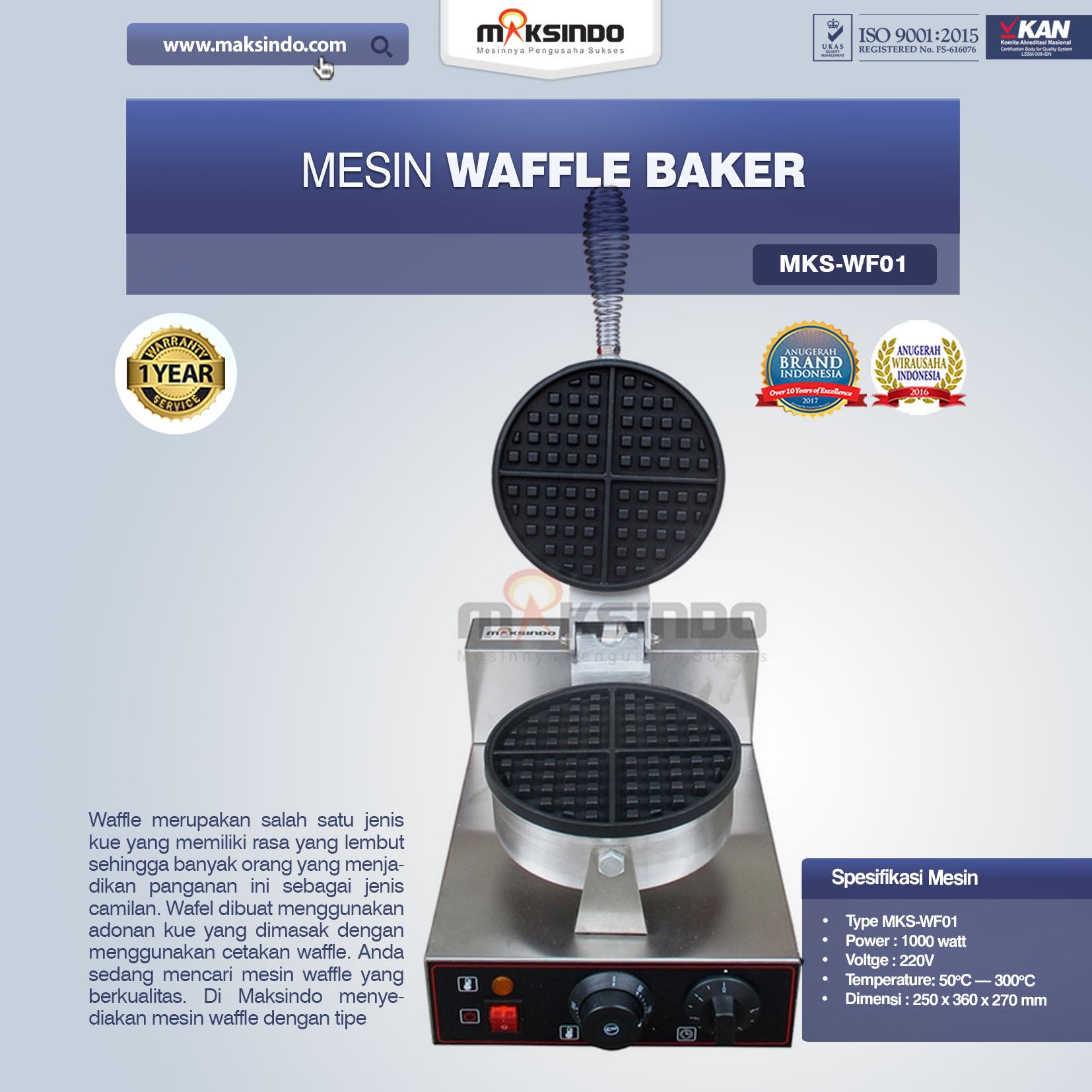 Jual Mesin Waffle Baker MKS-WF01 di Mataram