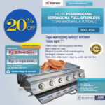 Jual Pemanggang Serbaguna Stainless Steel – Gas BBQ Grill 6 Tungku di Mataram