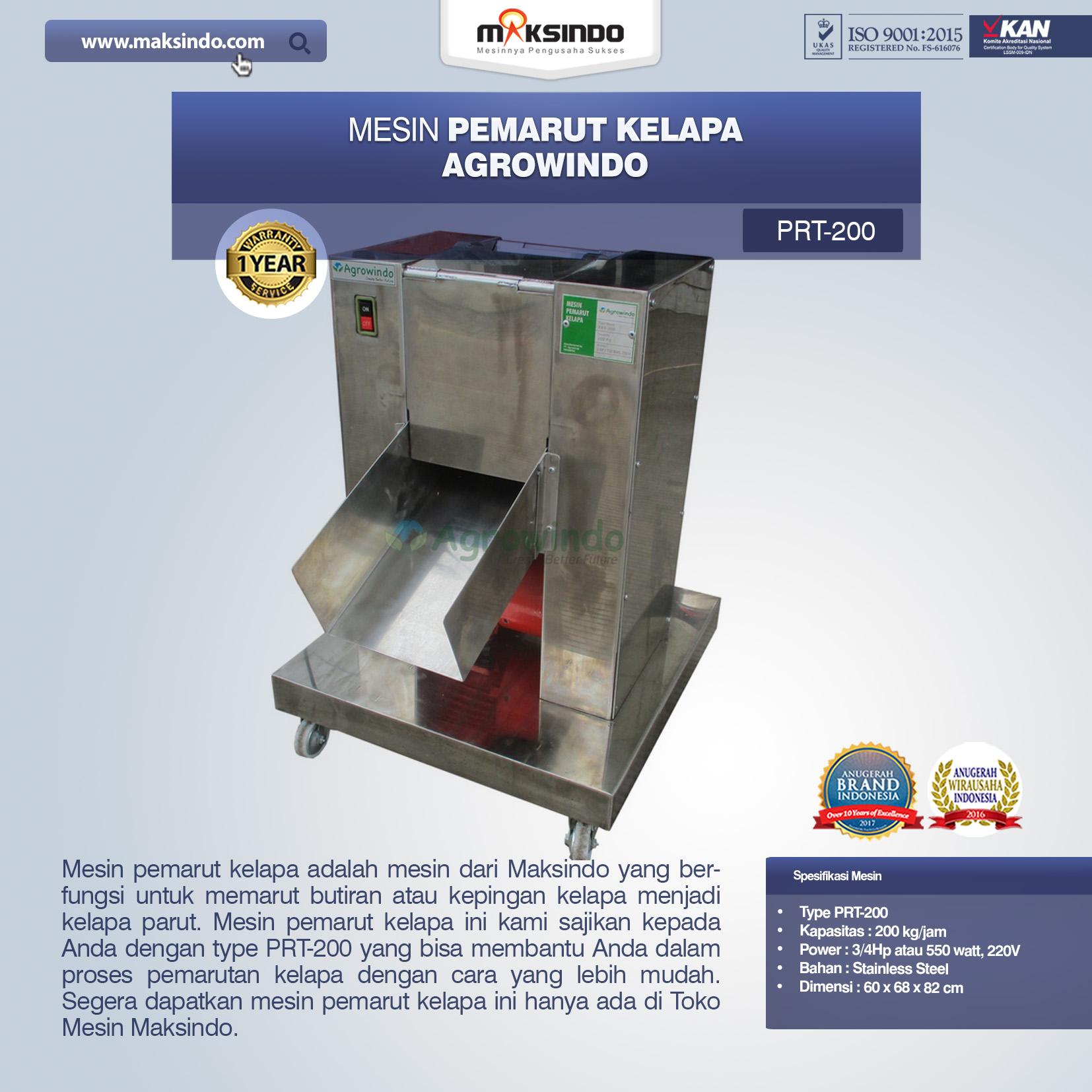 Jual Mesin Pemarut Kelapa PRT-200 di Mataram