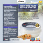 Jual Mesin Tetas Telur 12 Butir Otomatis – AGR-TT12 di Mataram
