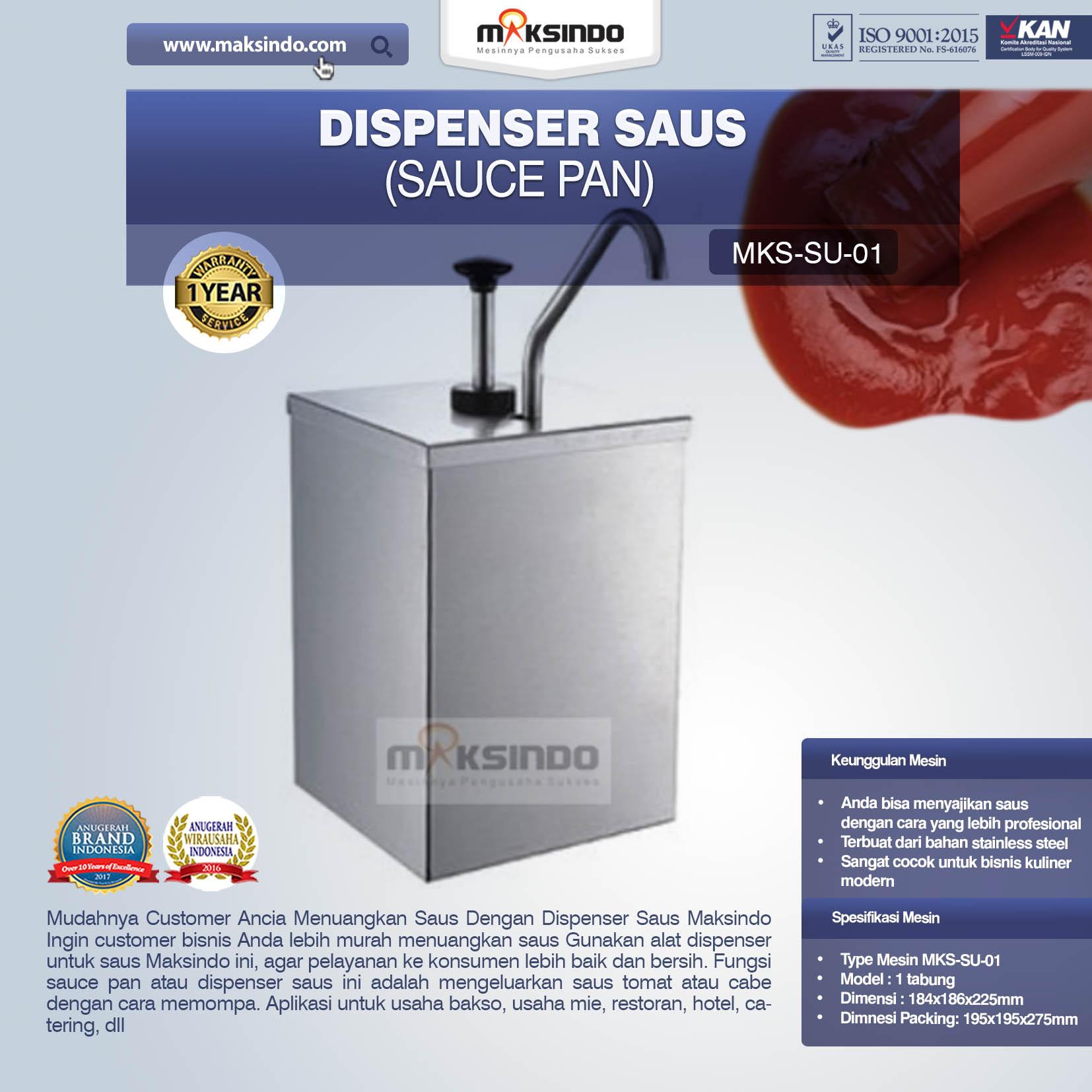 Jual Dispenser Saus (Sauce Pan) SU-01 di Mataram