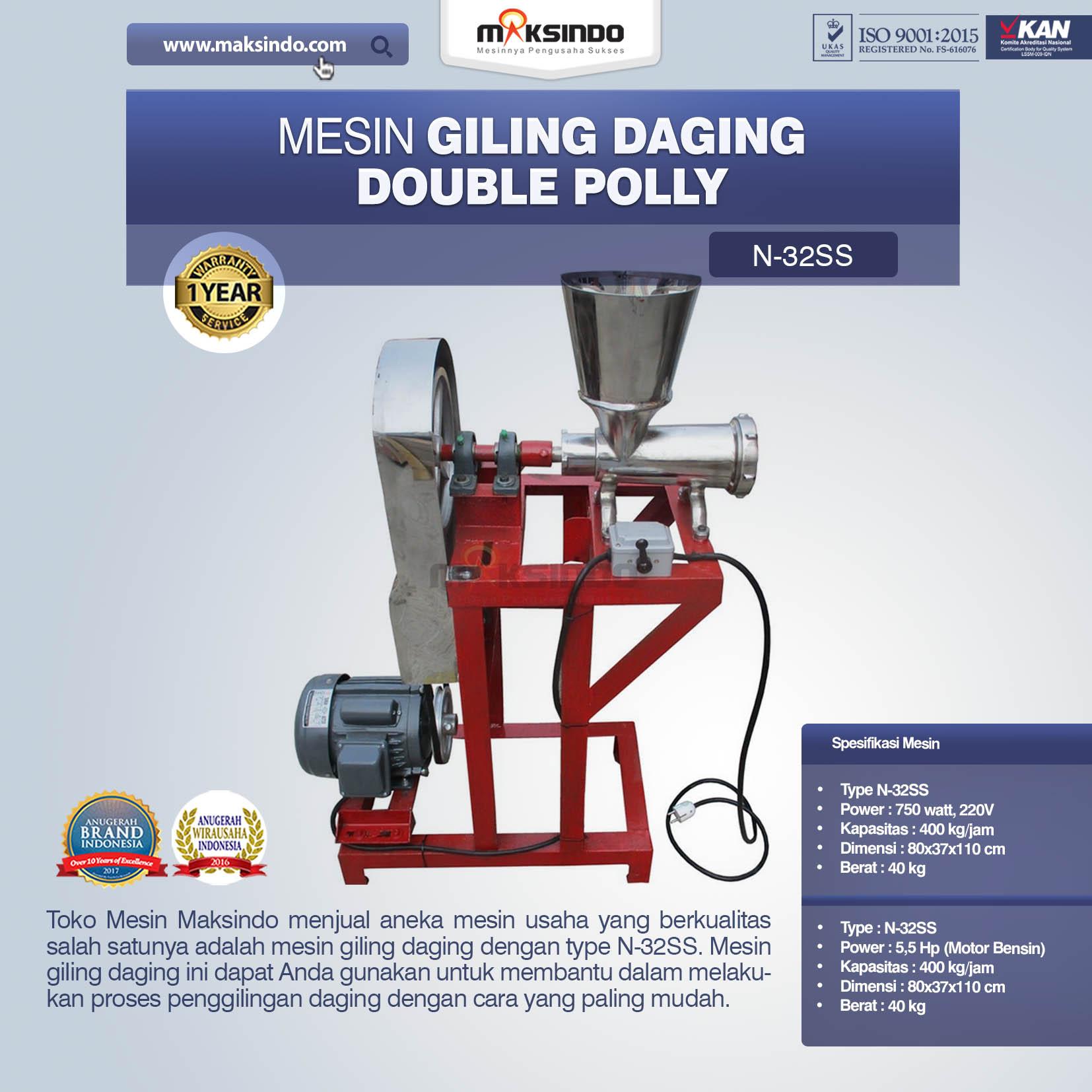 Jual Mesin Giling Daging Double Polly N-32SS di Mataram