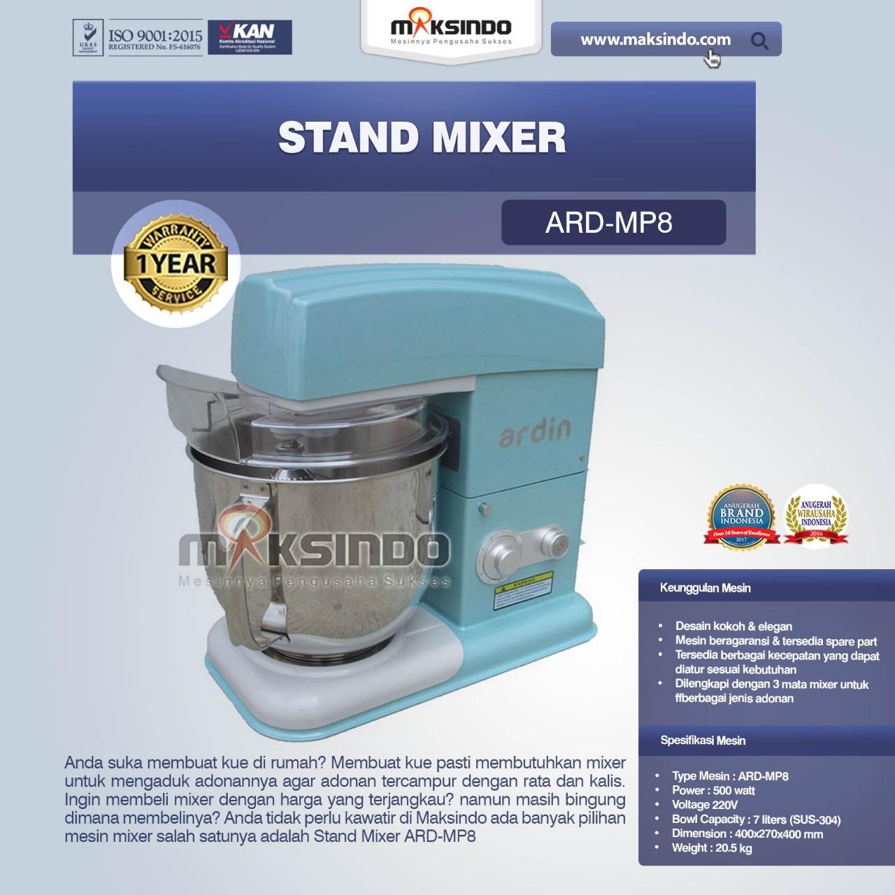 Jual Stand Mixer ARD-MP8 di Mataram