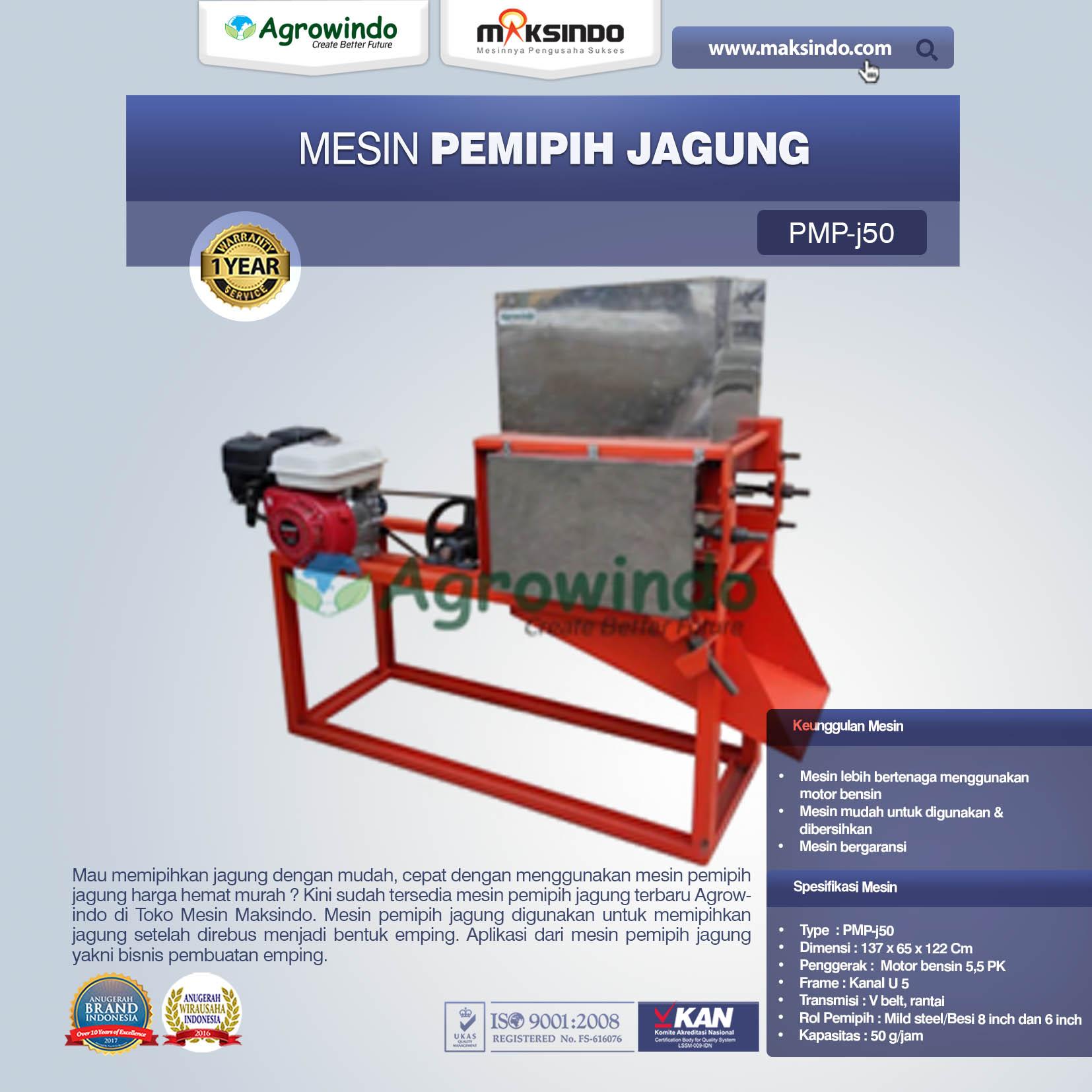 Jual Mesin Pemipih Jagung PMP-J50 di Mataram