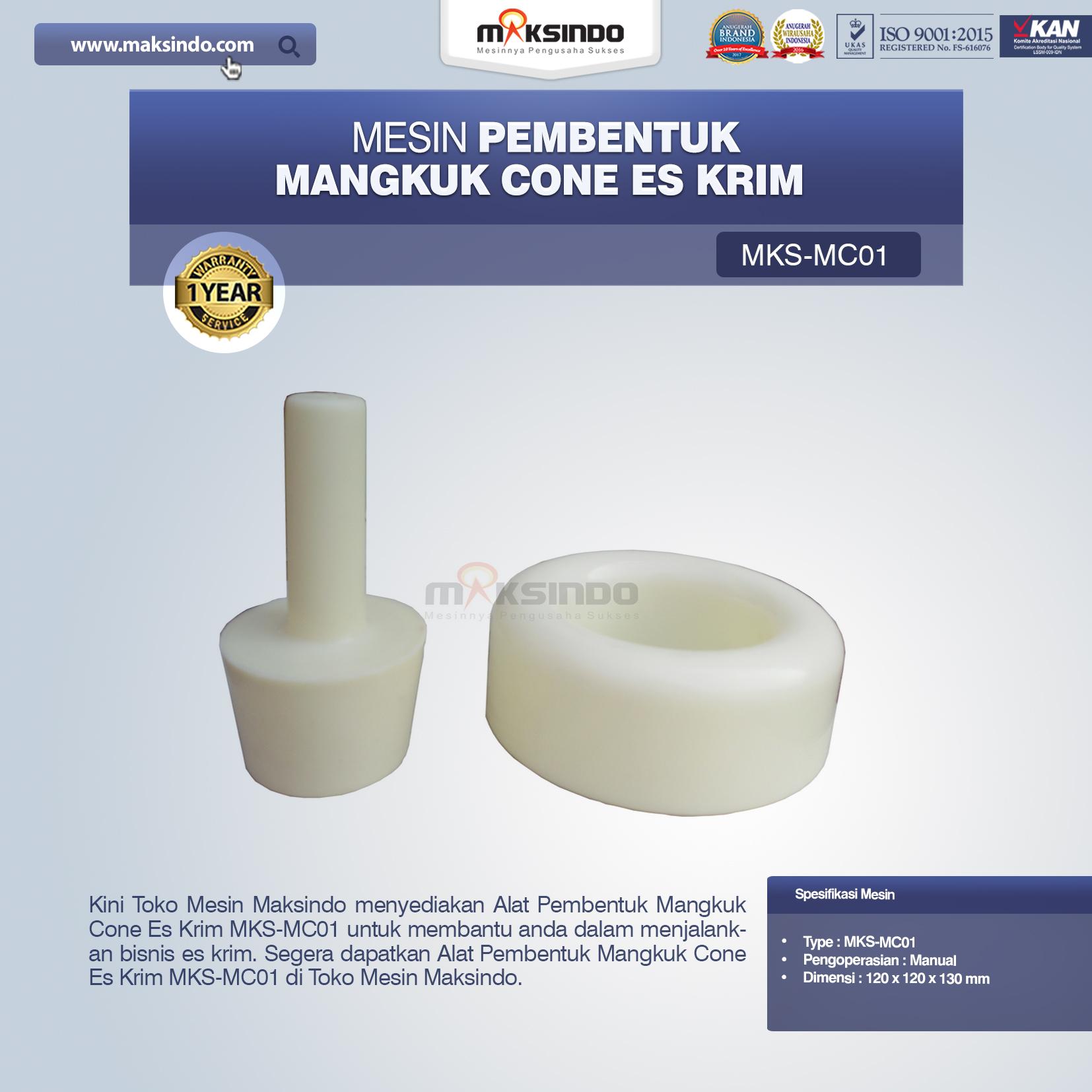 Jual Alat Pembentuk Mangkuk Cone Es Krim MKS-MC01 di Mataram
