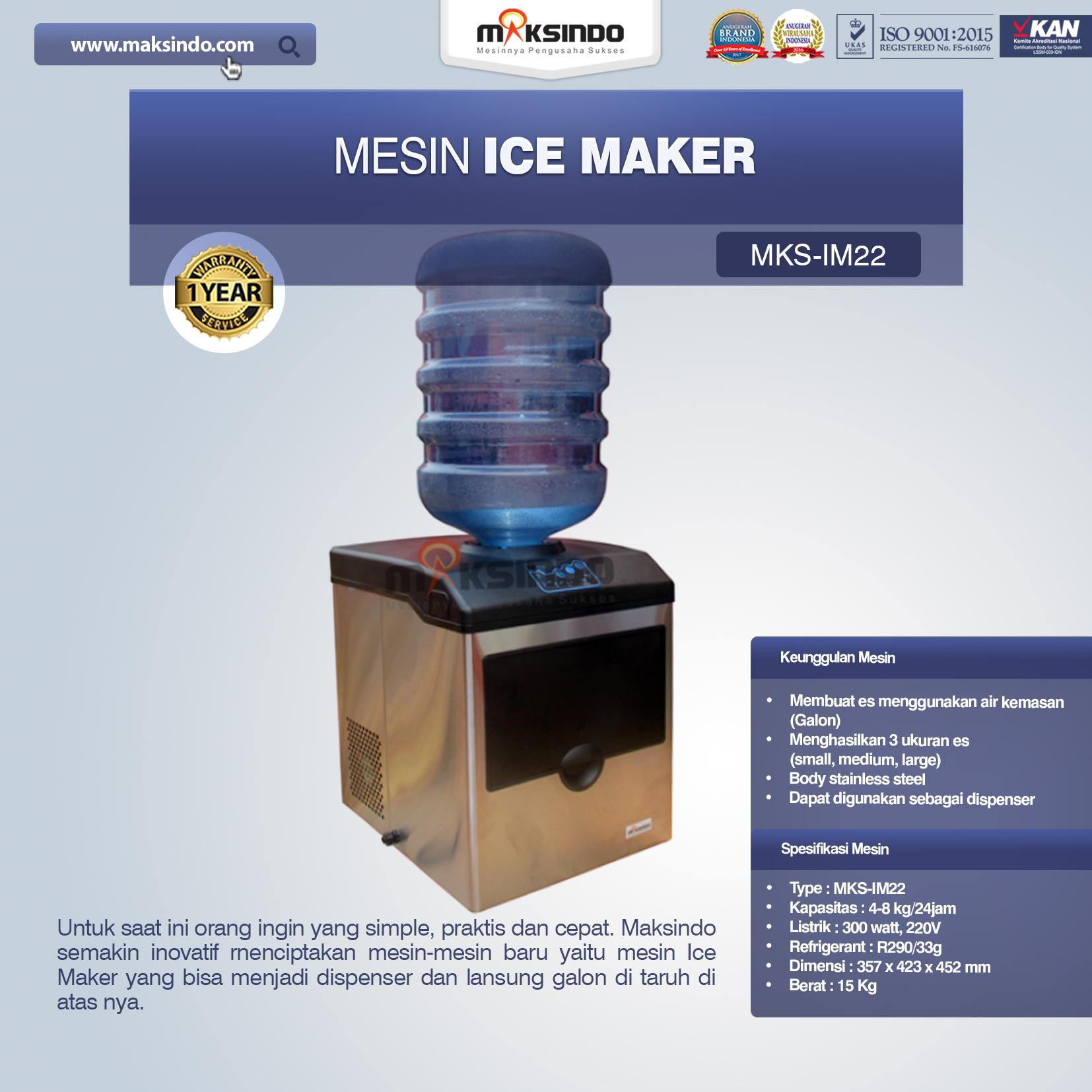 Jual Mesin Ice Maker MKS-IM22 di Mataram