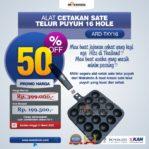 Jual Alat Cetakan Sate Telur Puyuh 16 Hole Ardin ARD-TKY16 di Mataram