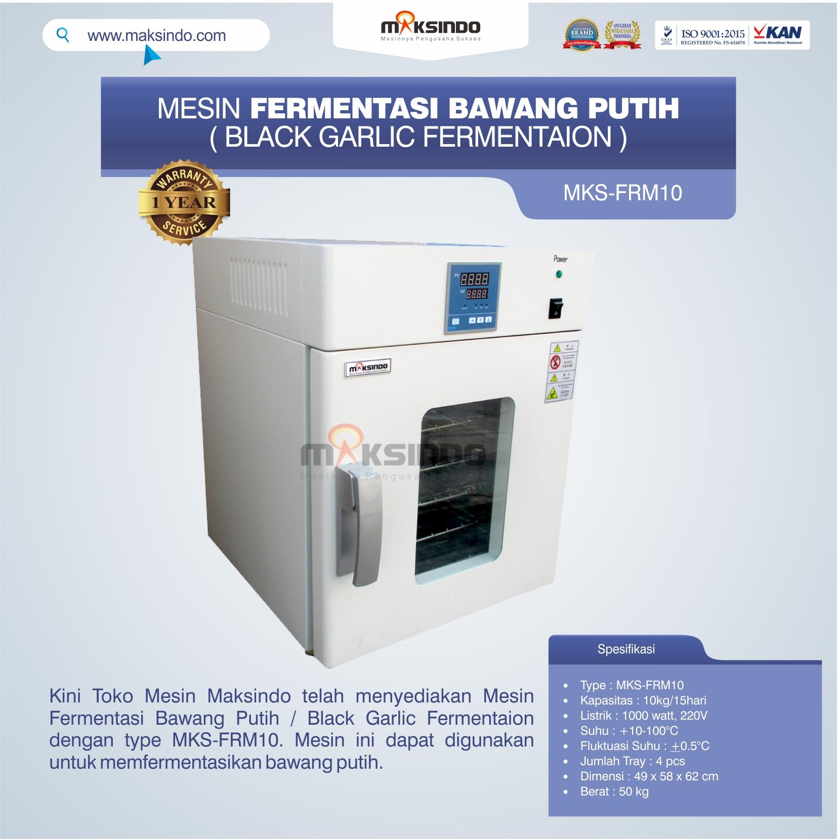 Jual Mesin Fermentasi Bawang Putih / Black Garlic Fermentaion MKS-FRM10 di Mataram