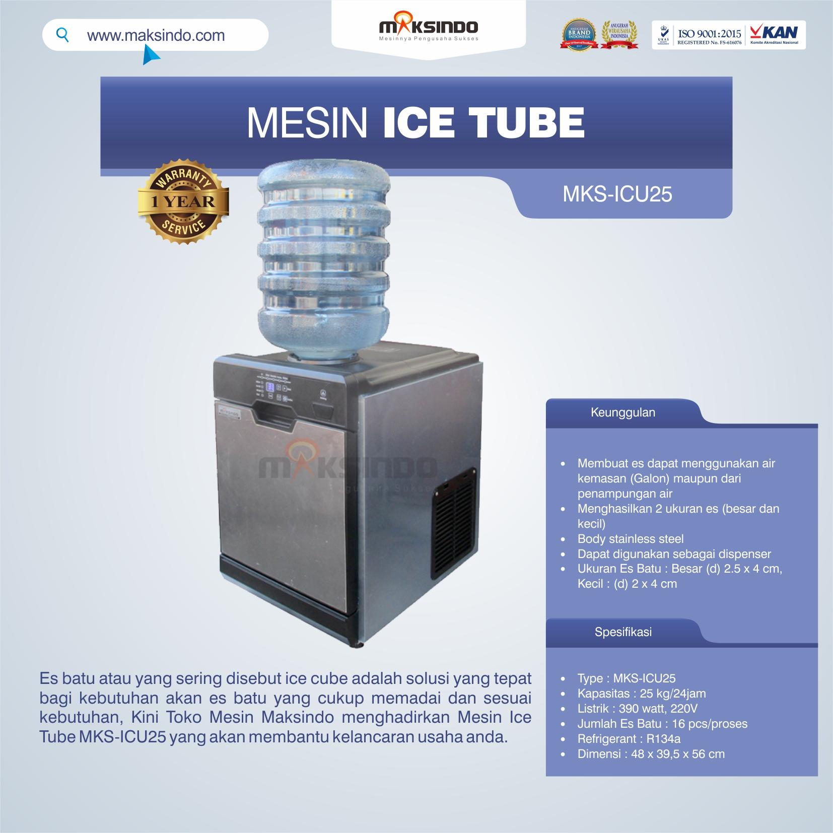 Jual Mesin Ice Tube MKS-ICU25 di Mataram