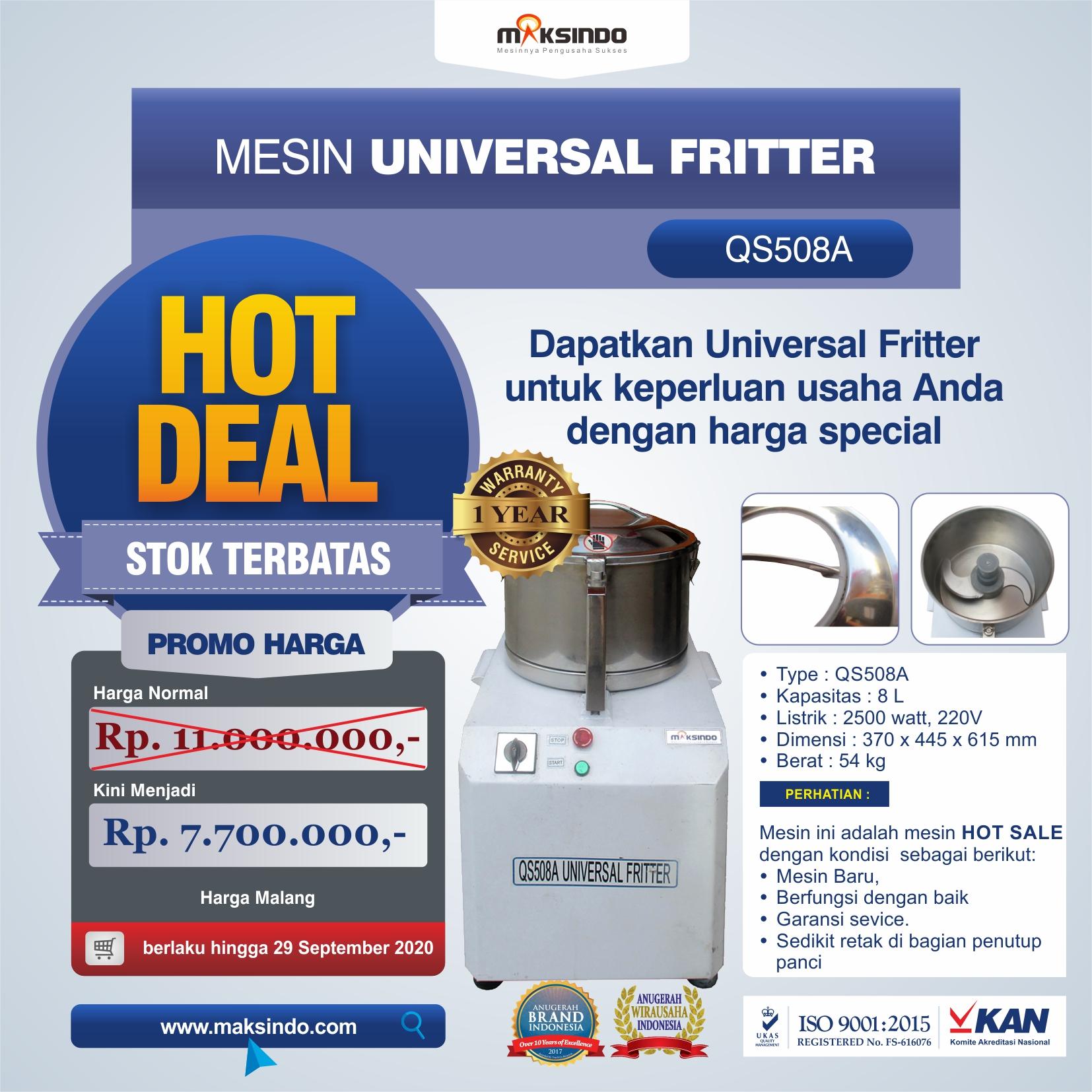 Jual Mesin Universal Fritter QS508A di Mataram