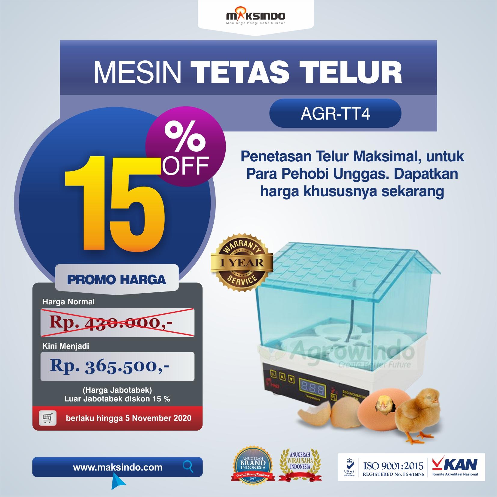 Jual Tetas Telur Mini 4 Butir (AGR-TT4) di Mataram