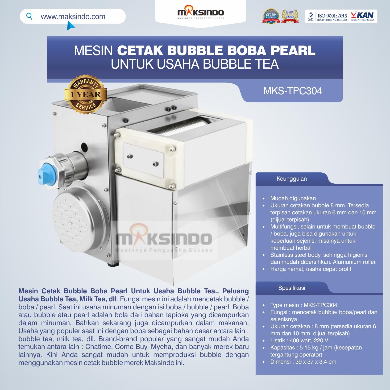 Jual Mesin Cetak Bubble Boba Pearl Untuk Usaha Bubble Tea di Mataram