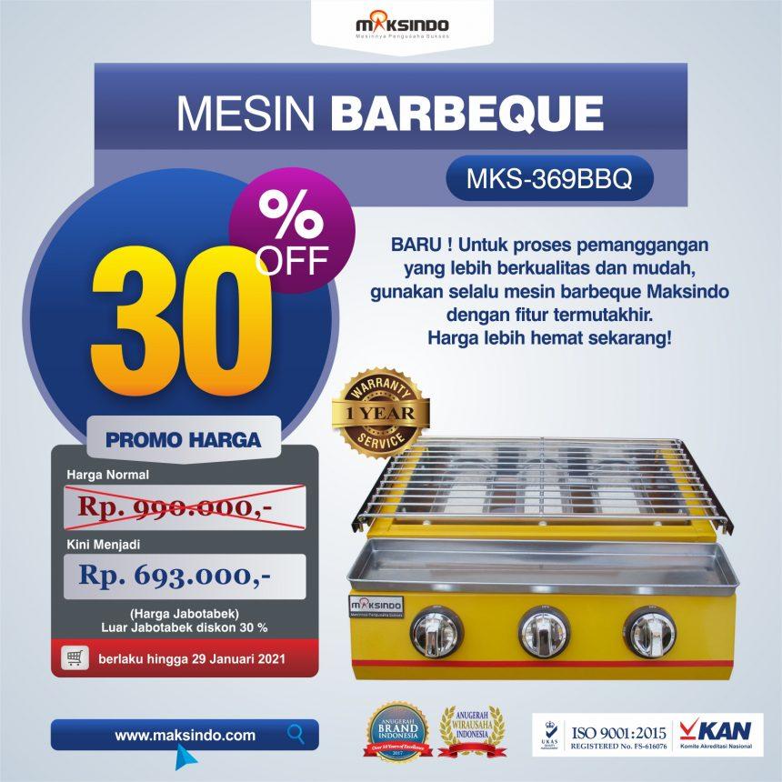 Jual Mesin Pemanggang Sate – BBQ 3 Tungku (Gas) MKS-369BBQ di Mataram