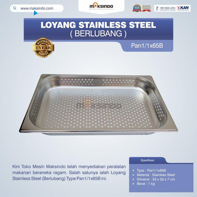 Jual Loyang Stainless Steel (Berlubang) Type Pan1/1x65B di Mataram