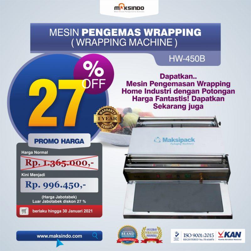 Jual Mesin Wrapping Makanan HW-450B di Mataram