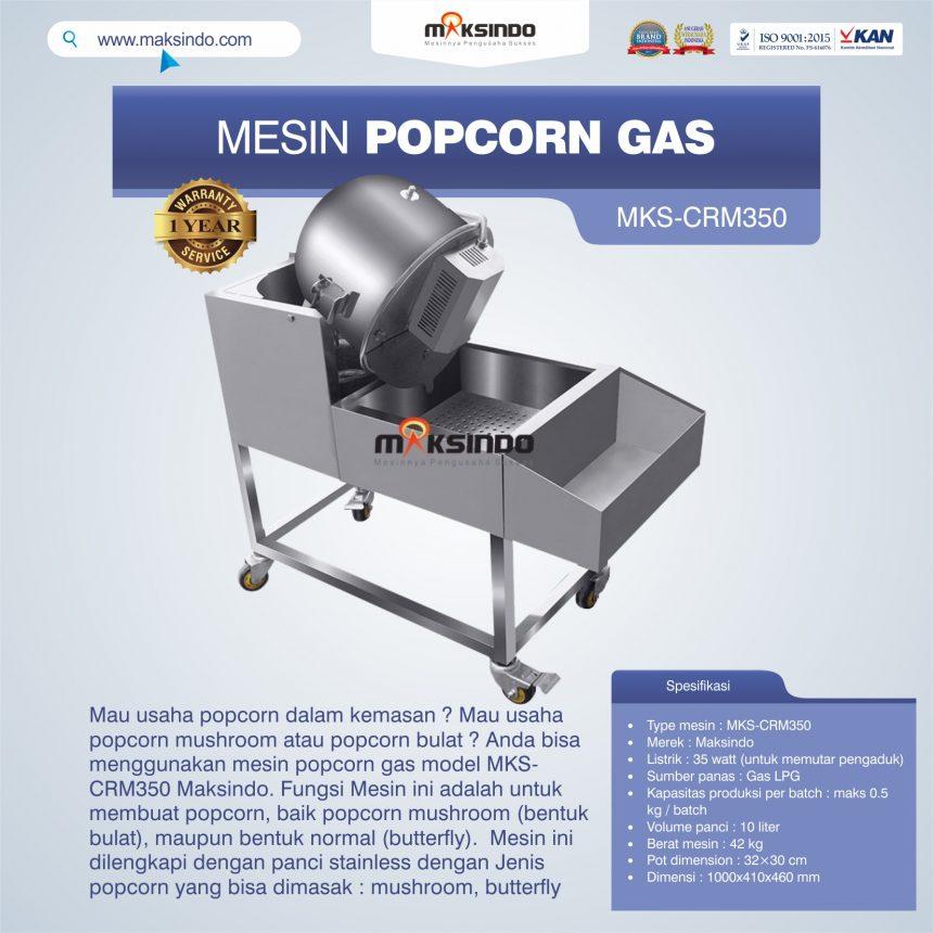 Jual Mesin Popcorn Gas Model MKS-CRM350 di Mataram