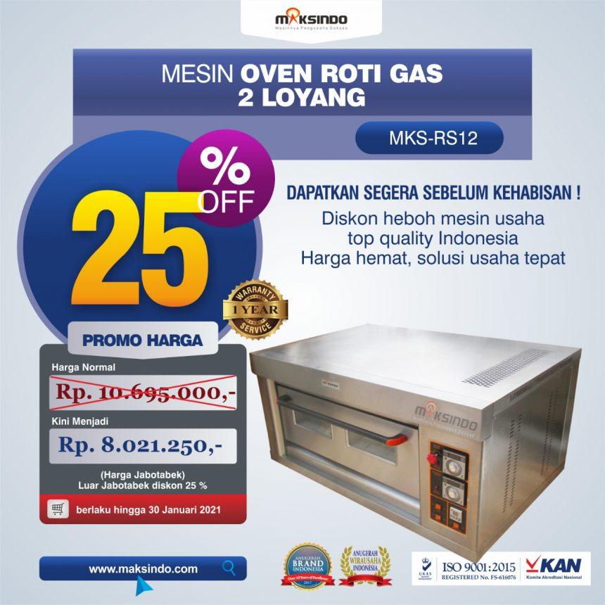 Jual Mesin Oven Roti Gas 2 Loyang (MKS-RS12) di Mataram